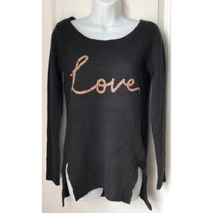 LC Lauren Conrad Sweaters - 5 FOR $20 - LC Black Love Crew Neck Sweater